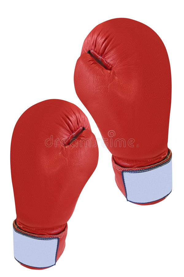 Boxing glove. Under the white background royalty free stock photography