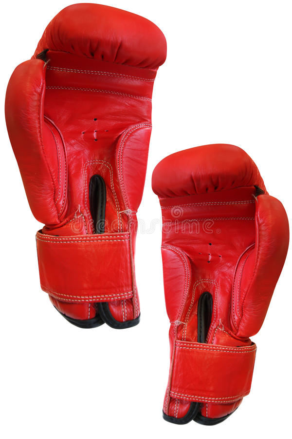 Boxing glove. Under the white background stock photo