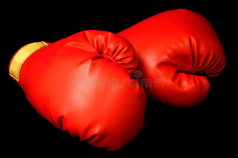 Boxing Gloves on Black royalty free stock images