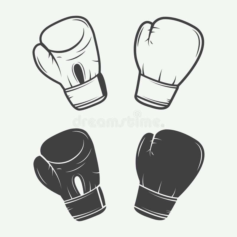 Free Boxing Gloves In Vintage Style. Royalty Free Stock Photography - 56959557