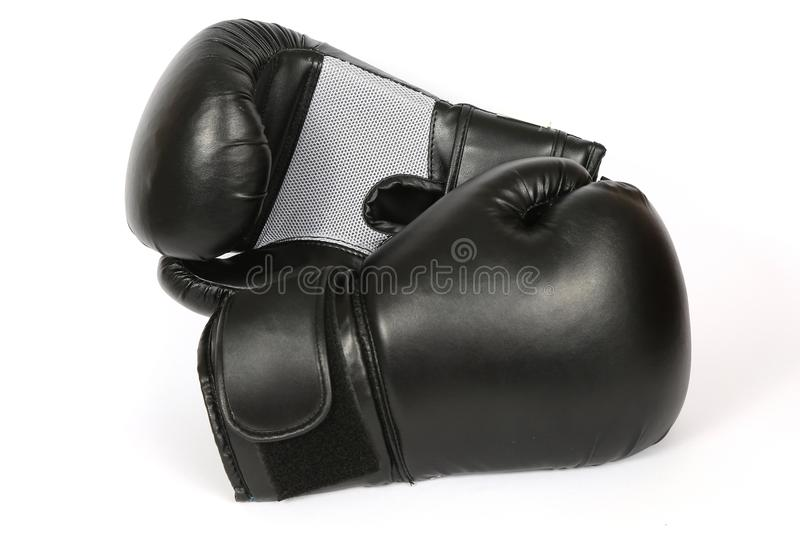 Boxing gloves isolated stock images