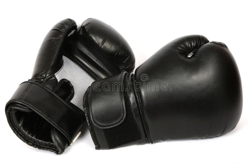 Boxing gloves isolated royalty free stock photography
