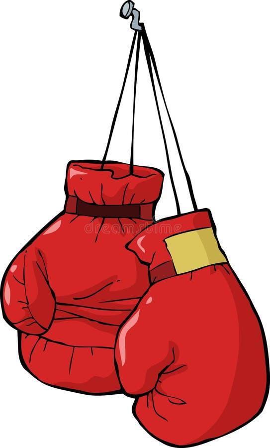 Boxing gloves royalty free illustration