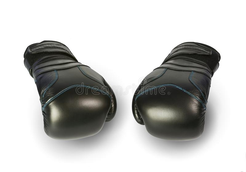 Boxing gloves. Picture of a pair of boxing gloves with white background stock photography