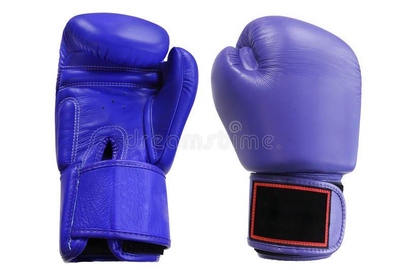 Boxing gloves. Under the white background royalty free stock image