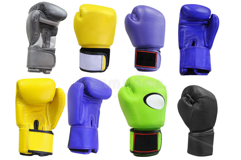 Boxing gloves. Under the white background royalty free stock photo
