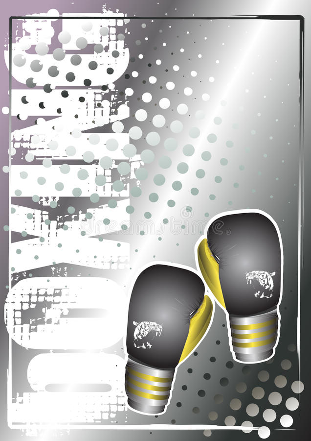 Boxing golden poster background 1 vector illustration