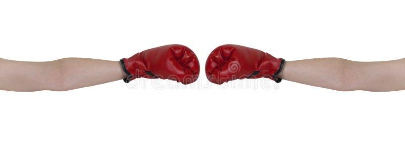 Boxing Handshake royalty free stock photo
