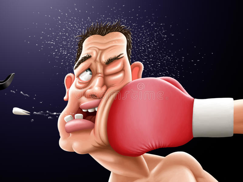 Boxing royalty free illustration