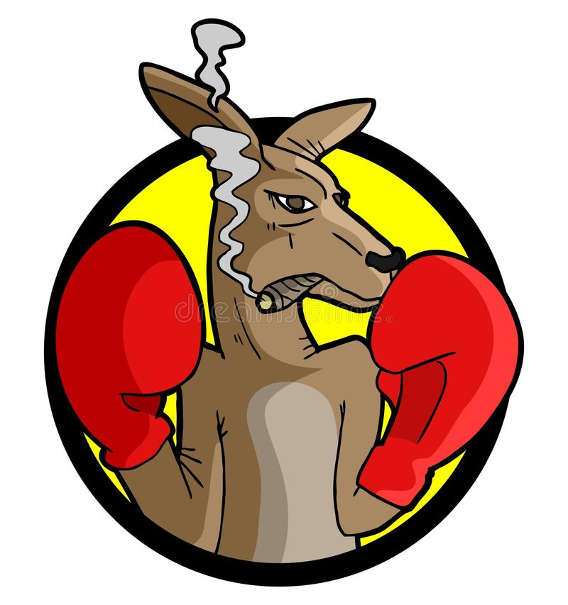 Boxing kangaroo. Creative design of boxing kangaroo vector illustration