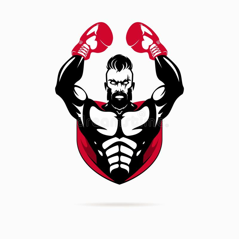Boxing logo. For sport club or gym royalty free illustration
