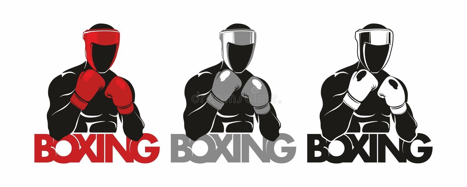 Boxing logo. Boxing Club Logo. Man in boxing gloves vector illustration