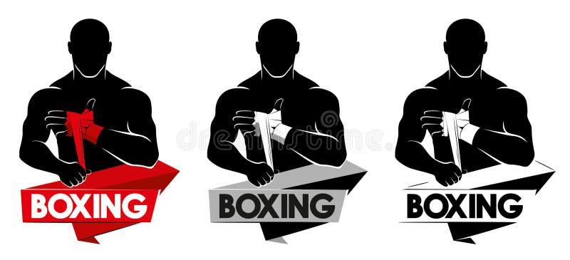 Boxing logo royalty free stock photo