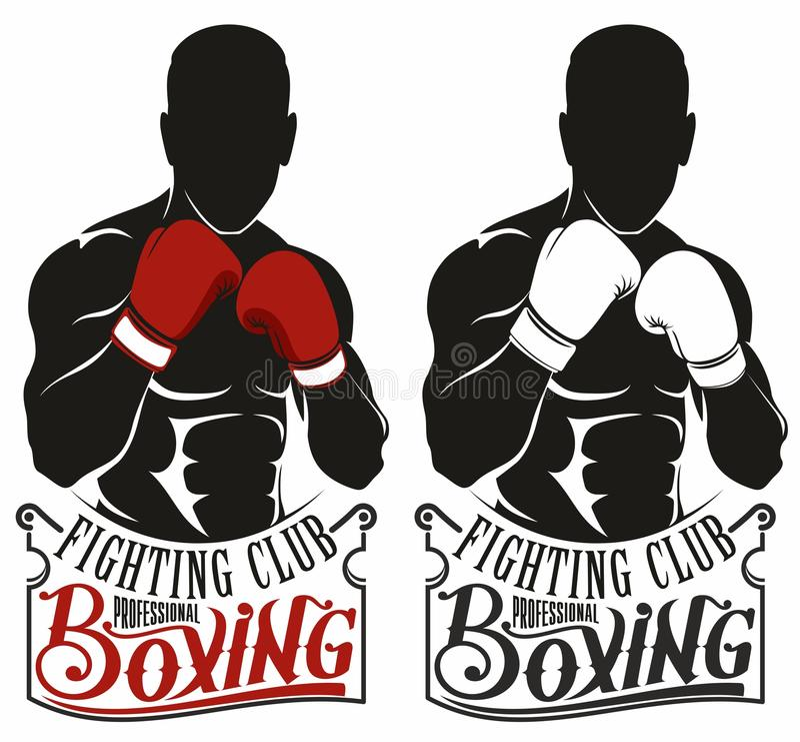 Boxing logo stock images