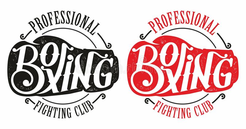 boxing logo stock illustration