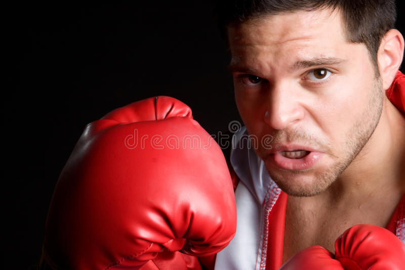 Boxing Man. Angry fitness health boxing man stock photos
