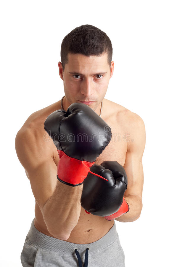 Boxing man. Ready for fight stock photo