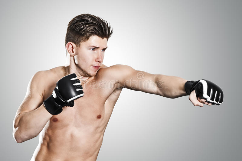 Boxing man. An image of a boxing young man royalty free stock images
