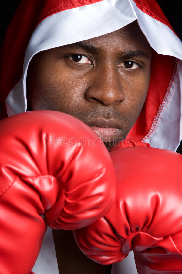Boxing Man. Professional young boxing sports man royalty free stock images