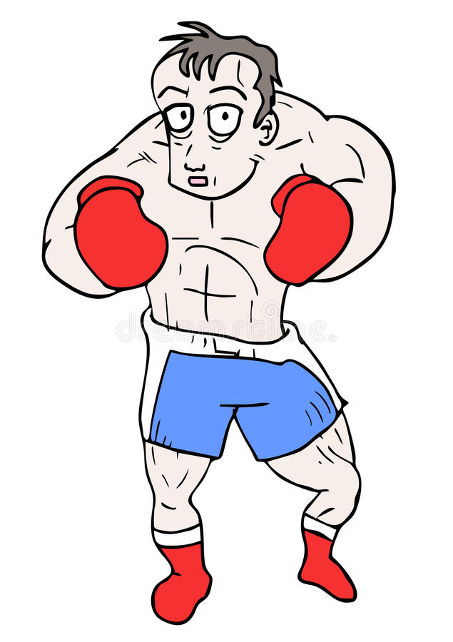 Download Boxing man stock vector. Illustration of comic, cartoon - 34022197