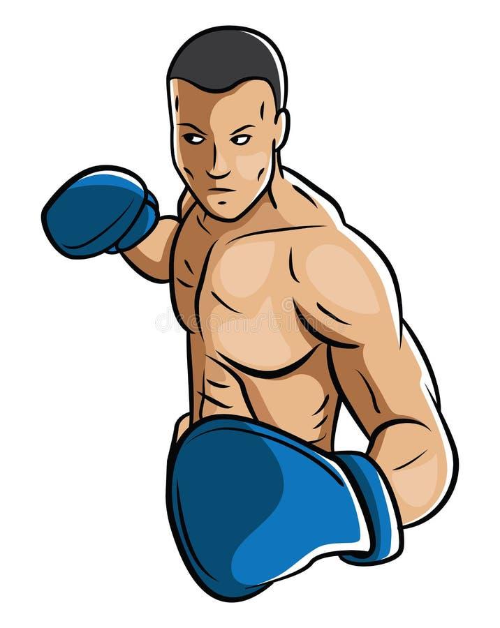 Boxing Man royalty free illustration