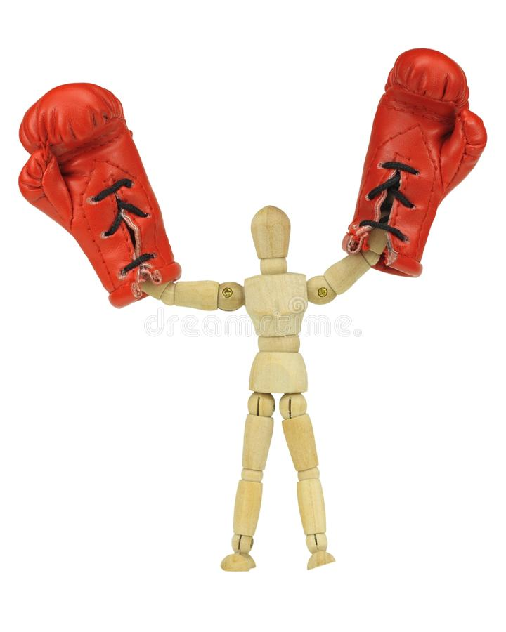 Boxing mannequin stock photos