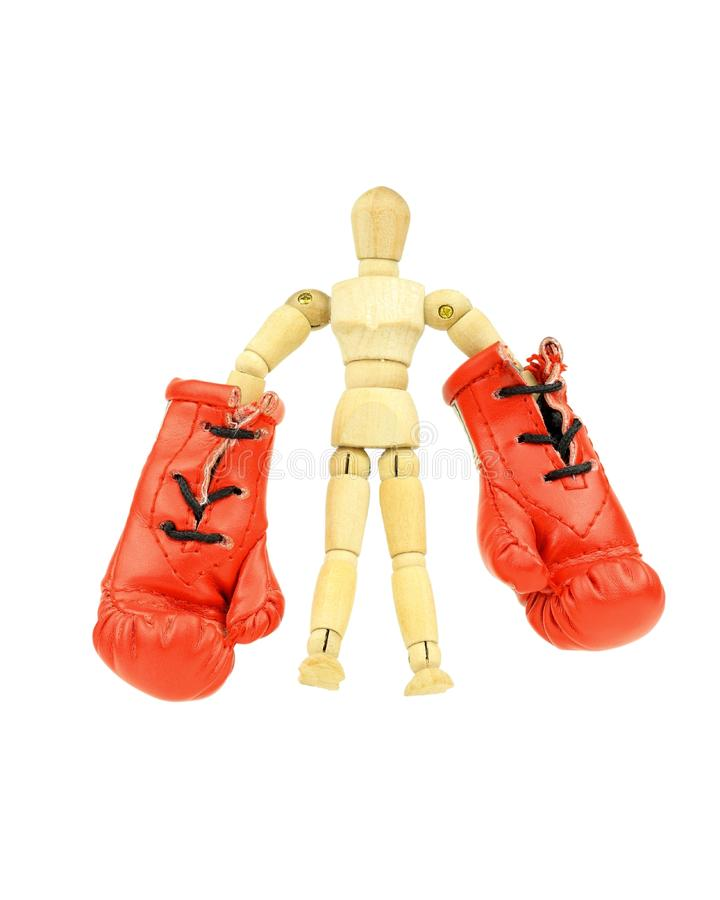 Boxing mannequin royalty free stock image