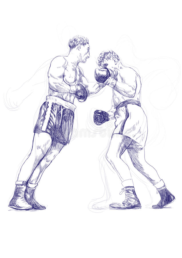 Download Boxing match stock vector. Image of dirty, craft, classical - 26094983