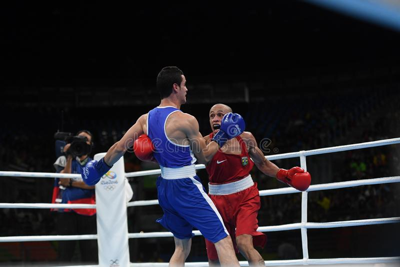 Boxing match. At the 2016 Olympic Games in Rio de Janeiro, photos stock images