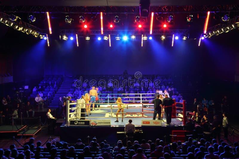 Boxing match: I.Ismailov vs F.Khrgovich stock image