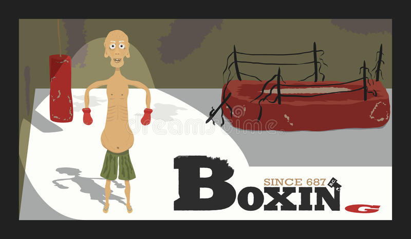 Download Boxing stock vector. Illustration of banner, career, punch - 37914302
