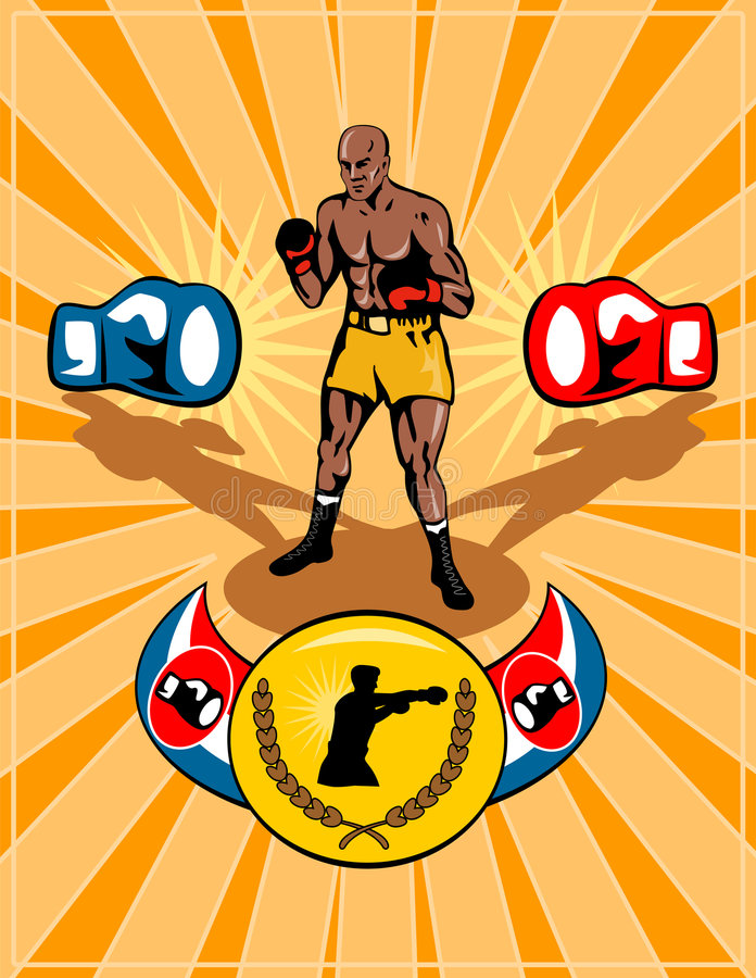 Download Boxing poster retro style stock vector. Image of challenger - 4900713