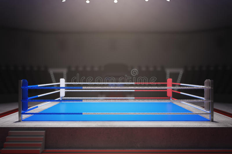 Boxing ring surrounded with ropes vector illustration