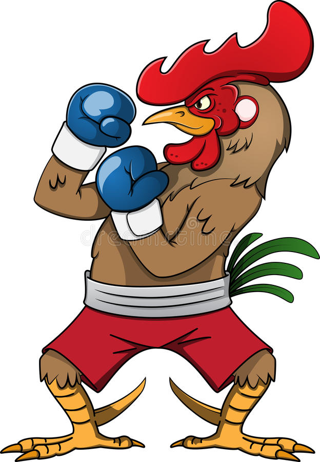 Boxing Rooster royalty free illustration