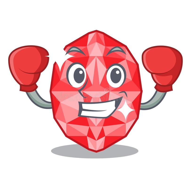Boxing ruby gems in a cartoon box. Vector illustration vector illustration