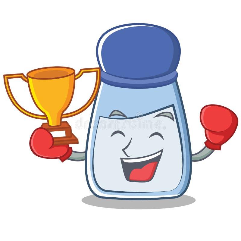 Boxing salt character cartoon style royalty free illustration