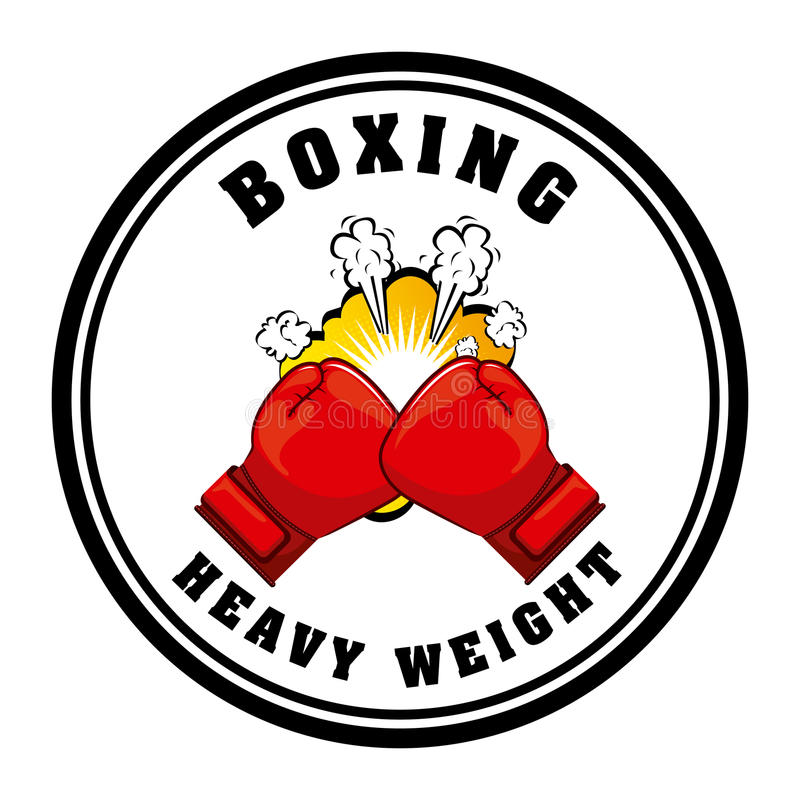 Boxing sport. Design, vector illustration eps10 graphic royalty free illustration