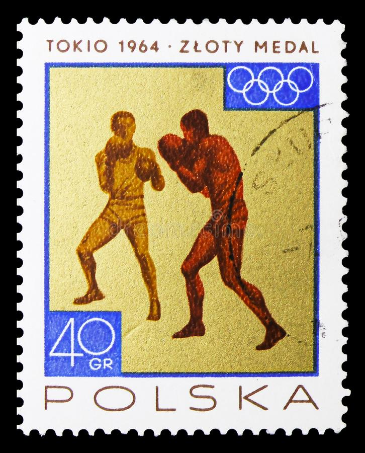 Boxing, Sport, Victories Won By Polish Team In 1964 Olympic Games serie, circa 1965 royalty free stock images