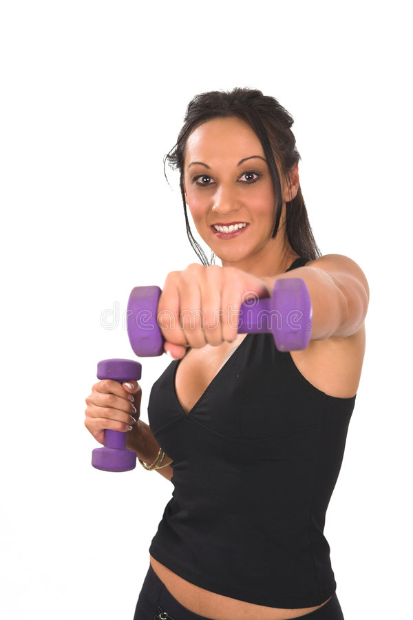 Free Boxing With Weights Stock Images - 4243324