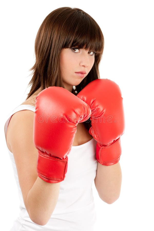 Download Boxing woman stock photo. Image of glove, boxing, female - 13381940