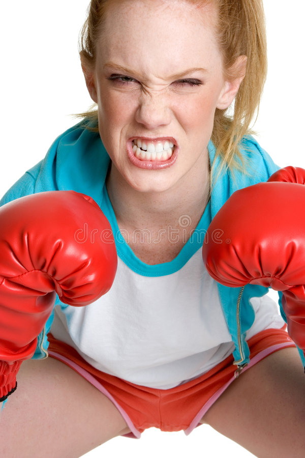 Download Boxing Woman stock image. Image of pretty, person, redhead - 5721481