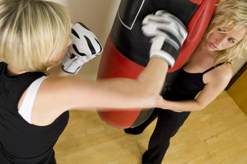 Download Boxing Work Out stock image. Image of sporty, women, girls - 3826475