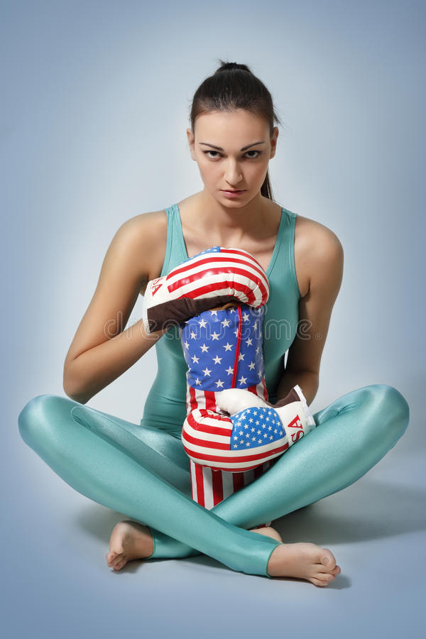 Download Boxing young woman stock image. Image of expression, exercise - 18721343