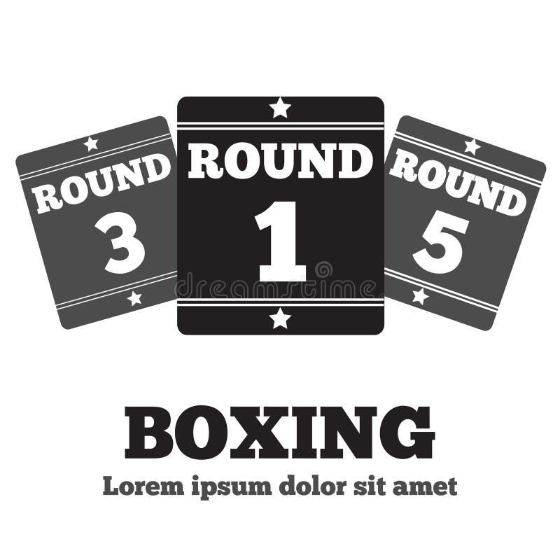 Boxning Ring Board stock illustrationer