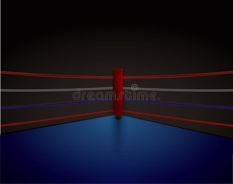 Boxning Ring Red Corner, royaltyfri illustrationer