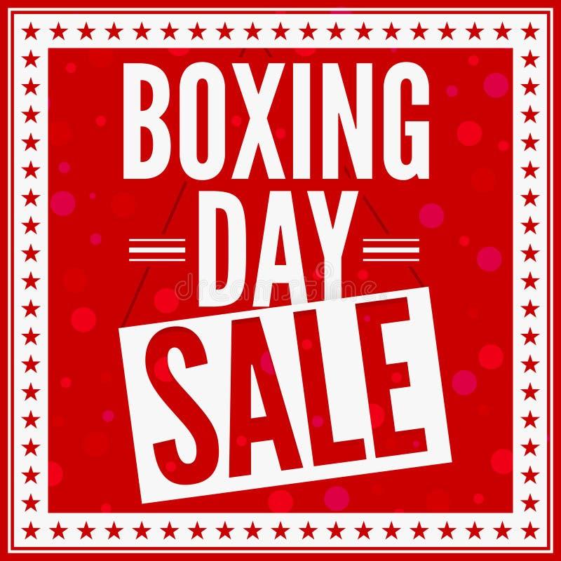 boxningdagförsäljning vektor illustrationer