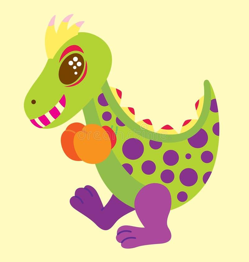 boxningdinosaur stock illustrationer