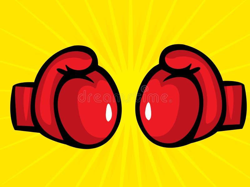 boxninghandskar vektor illustrationer