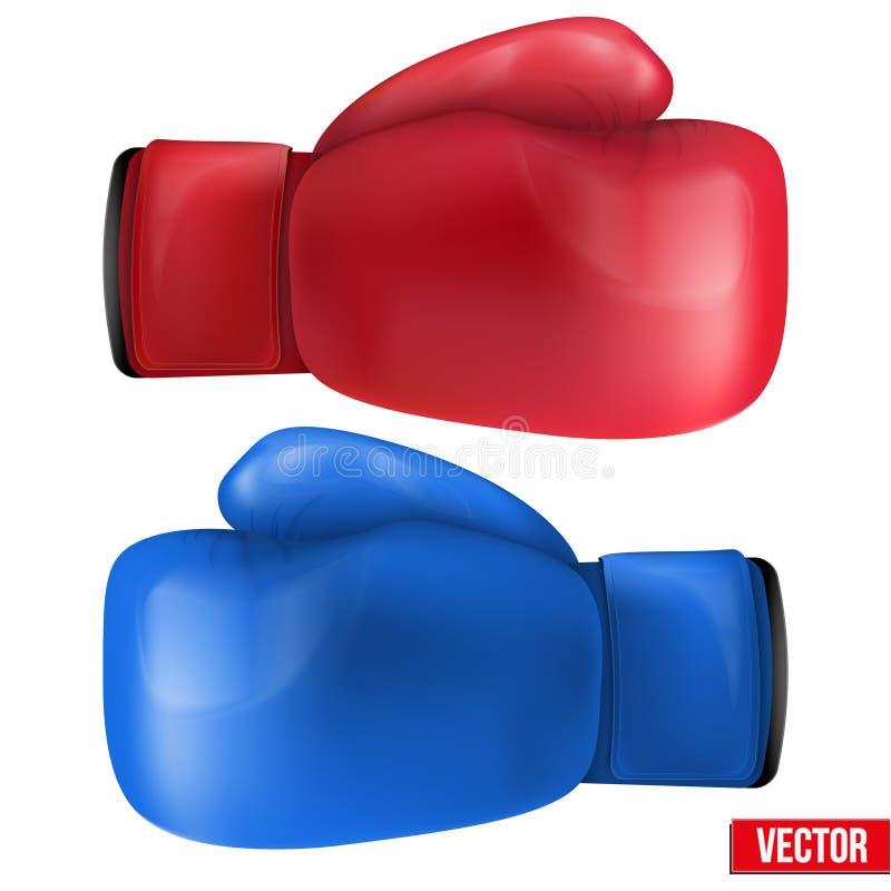 Boxninghandskar som isoleras på vit bakgrund. stock illustrationer