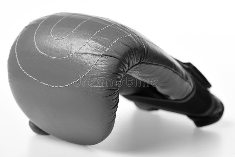 Boxninghandske Läderaskutrustning för kamp och utbildning arkivfoto